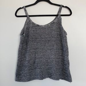 Salt and Pepper Button Back Knit Top